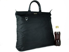 Auth GUCCI Black Nylon Canvas Extra Large Hand Bag Tote Bag Vintage Ital... - $197.01