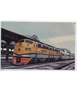 Rio Grande FT Railroad Train Streamliner Denver Colorado Depot postcard - $5.89