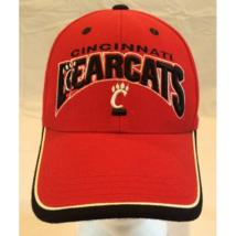 Cincinnati Bearcats TOW Red Baseball Hat Black Trim White Piping 3D Logo... - $14.69