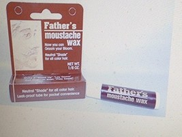 4 Pack Father's Moustache Wax Neutral. Neutral Shade For All Color Hair. Leak Pr