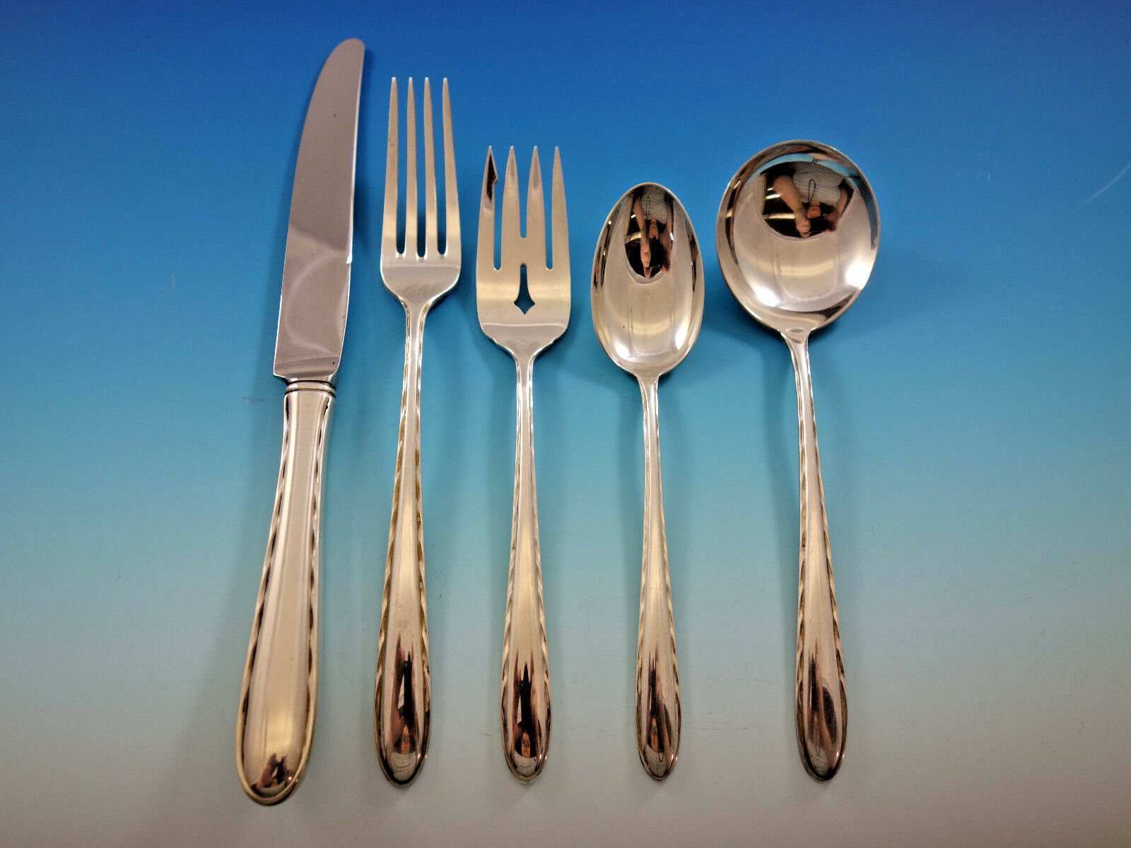 Primary image for Silver Flutes by Towle Sterling Silver Flatware Set for 48 Service 253 pcs