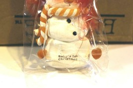 CHRISTMAS ORNAMENTS WHOLESALE- SNOWMAN- 13360- 'BABY'S 1ST- (12) - NEW -W74 - $9.75
