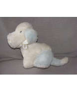 EDEN STUFFED PLUSH PUPPY DOG MUSICAL WIND UP WHITE BLUE WAGGY HOW MUCH I... - $46.07