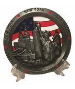 Vintage Round Plate with Statue of Liberty, Empire State Building and NY... - $14.99