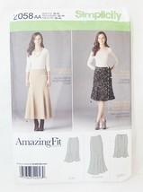 Simplicity Faldas Patrón de Costura 2058 Tamaño Aa 10-18 - $8.66