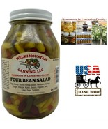 FOUR BEAN SALAD - Amish Homemade 4 Beans Onions Peppers Mix in Sweet Bri... - $9.87+