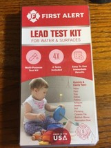 NEW First Alert Lead Test Kit for Water and Surfaces Multi-Purpose 4 Tes... - $12.86