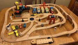 Melissa & Doug Wooden Railway Set Vehicles High-Quality Construction Train 701 - $57.45