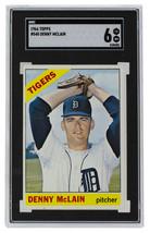 Denny Mclain Detroit Tigers 1966 Topps #540 Baseball Card SGC 6 EX NM - $403.91