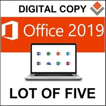 LOT OF FIVE Microsoft Office 2019 Standard for Mac Lifetime License - $39.95