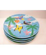 """4 Dept 56 Paradise Plates 8"""" Decorative Collectibles - $14.55"""