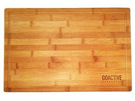 Bamboo XL Cutting Board Large End Grooves Chopping Wood Kitchen Butcher ... - $18.56