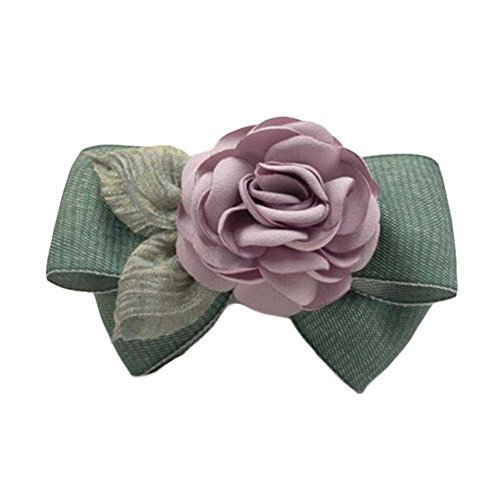 Celadon Color Cloth Rose Hair Bow Handmade French Barrette Hair Barrette Bowknot