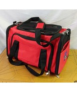 Pet Peppy Premium Airline Approved Expandable Pet Carrier Red Two Side E... - $47.95