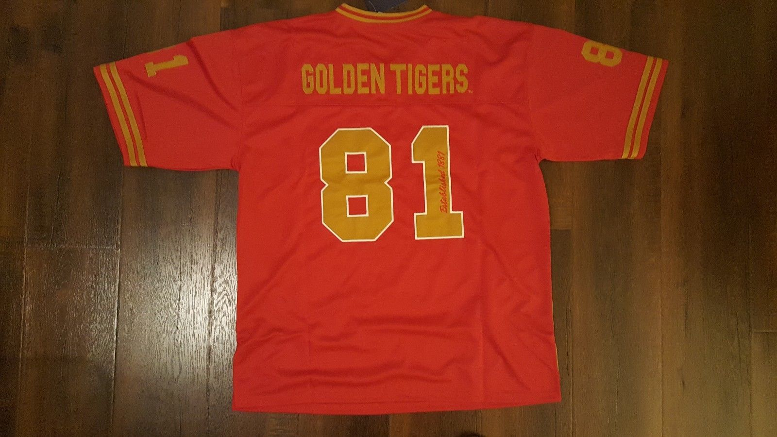 TUSKEGEE University Football Jersey Golden Tigers football jersey HBCU COLLEGE