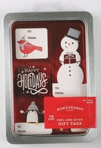 Happy Holidays 75 Count Peel & Stick Christmas Gift Tags To From Stickers NEW