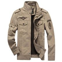 Men's Autumn and Winter Cotton Coat Outdoor Windproof Waterproof Warm Stand Coll image 5