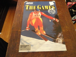 COMMODORE 64 The Games Winter Edition tested boxed Epyx retro game Olympics - $14.99