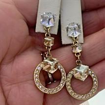Swarovski  Crystal Cube Drop Dangle Earrings #2 - $23.75