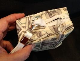 Clutch Bag/Wristlet/Makeup Bag - Money, dollars, 20's, 100's, 1's, greenbacks image 4