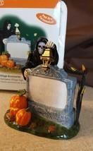 Dept 56 Snow Village Halloween Accessory 2002 HALLOWEEN VILLAGE SIGN 53044 - $9.99