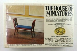 Vintage House Of Miniatures Duncan Phyfe Window Seat #40078 New Sealed - $29.95