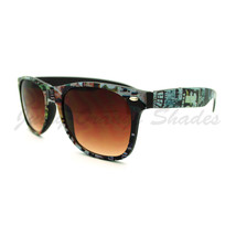 Vintage Print Sunglasses Classic 80's Old School Frame - $9.00 CAD