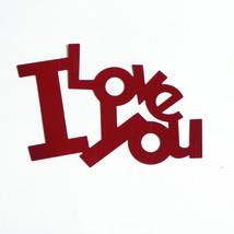 Word I Love You Cutouts Plastic Shapes Confetti Die Cut Free Shipping - $6.99