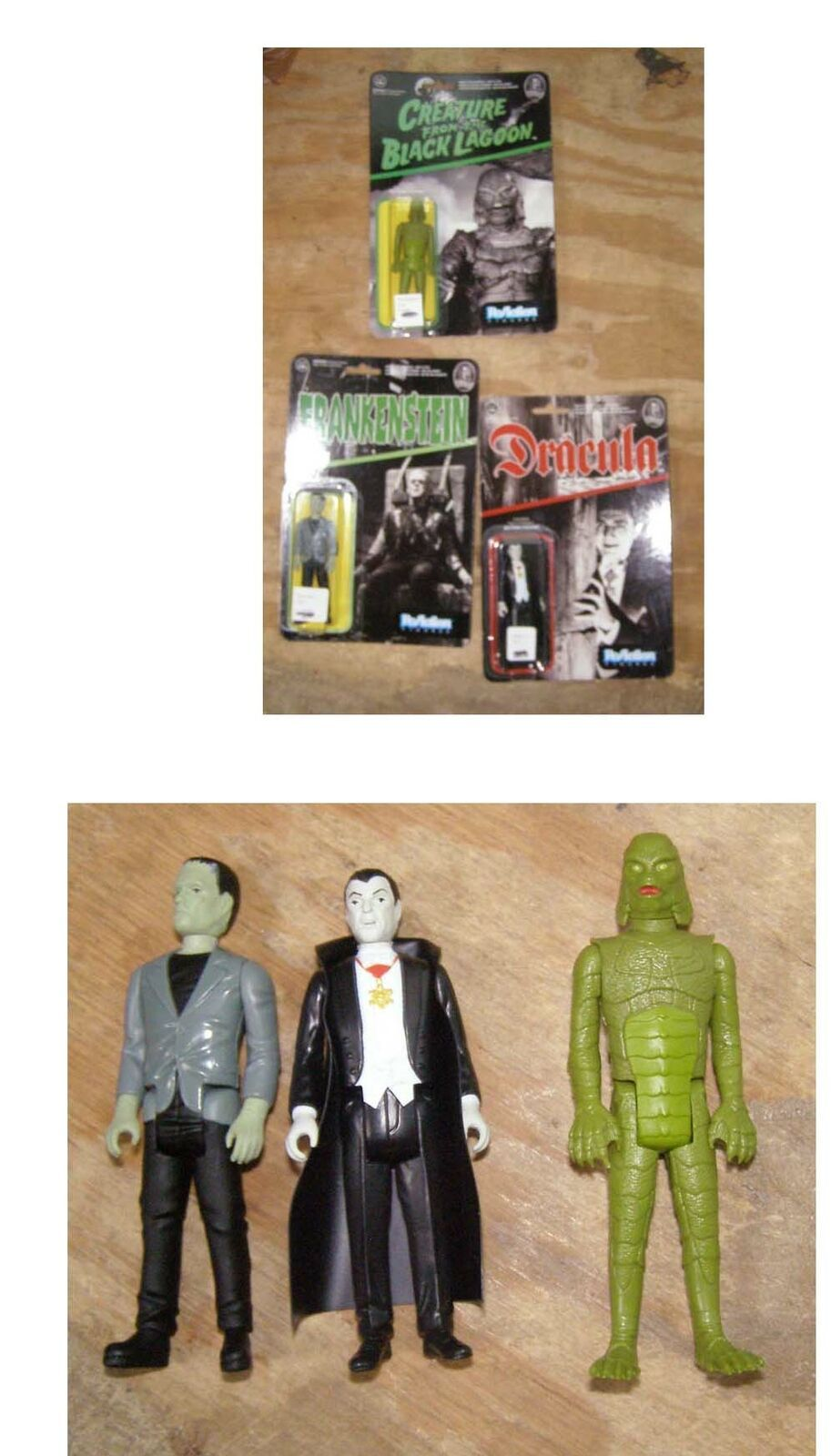 Universal Monsters Figures Frankenstein Dracula Creature From The Black Lagoon R