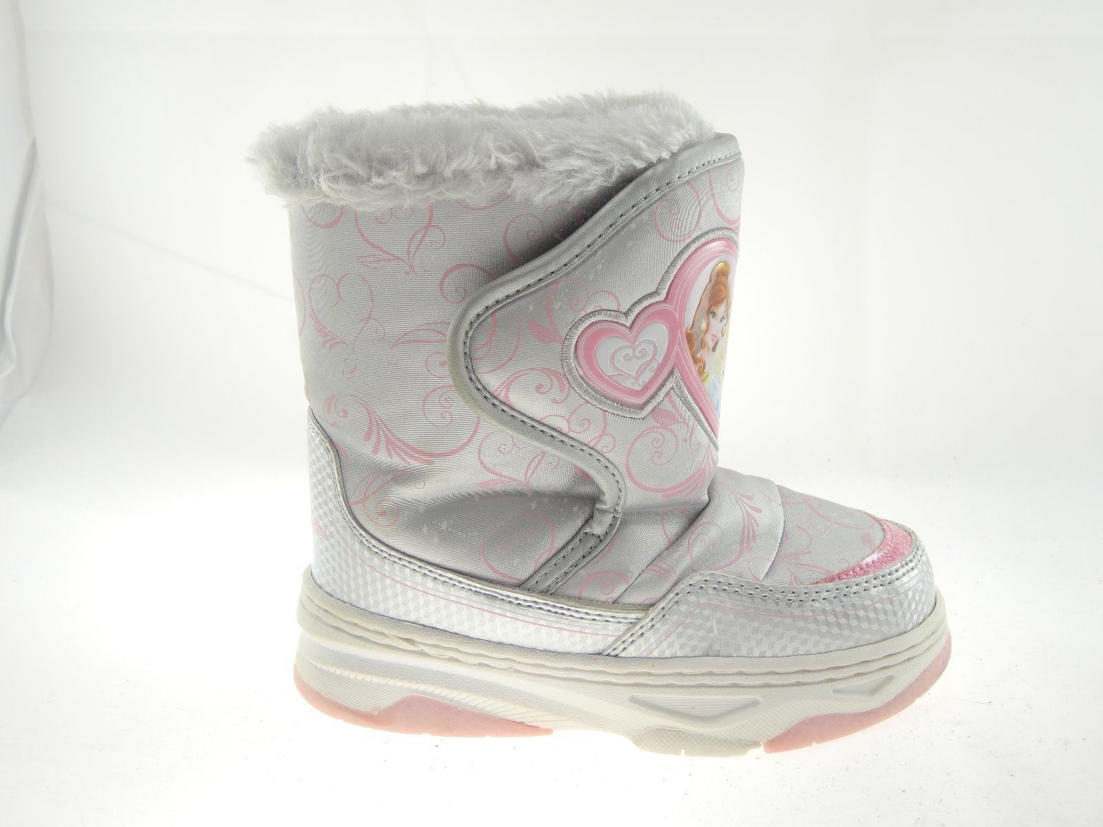 Disney Nala Silver Gray Size 9/10 Girls Princess Winter & Snow Boots image 4