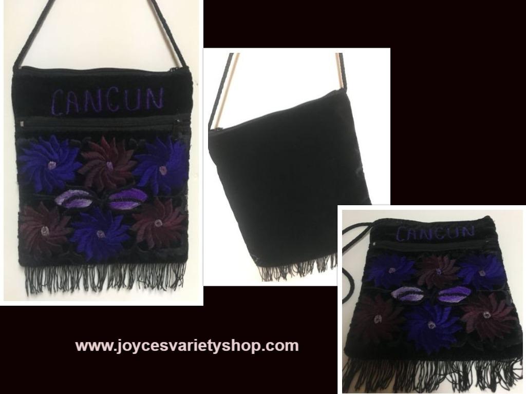 Cancun blue purse web collage