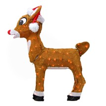 "Product Works 26"" Rudolph in Santa Hat Christmas Yard Decor - Clear Lights - $63.10"