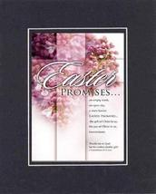 Easter Promises 8 x 10 Inches Biblical/Religious Verses set in Double Beveled Ma - $11.14