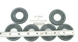 (6) NEW RUBBER FAB 40MPE-Z-XR-100 EPDM CLAMP GASKETS METAL DETECTABLE 11Z819 image 2