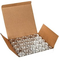 Vivaplex, 25 Clear, 10 Gram Plastic Pot Jars, Cosmetic Containers, With ... - $11.89