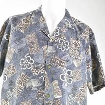 Royal Creations Hibiscus Turtles Drums Tribal XL Hawaiian Aloha Shirt - $29.69
