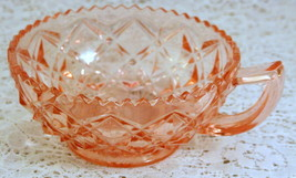 Imperial Depression Glass Diamond Block Little Jewel Pink Nappy or Jelly... - $11.87