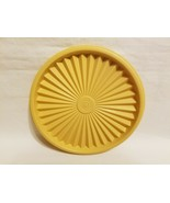 Tupperware # 808 Harvest Gold Servalier Canister Round Replacement Lid -... - $9.89