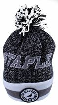 Staple Breakaway Mitchell Ness Respect All Fear None Charcoal Pom Beanie Hat NWT image 3