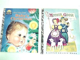 Vintage MOTHER GOOSE  Little Golden Book  Baby's  Christmas Collectible - $11.54