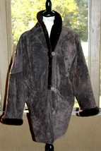 Fox Run Size Small Brown Suede Furry Lined Women's Winter Coat Jacket (AM) - $26.59