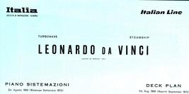 S/S Leonnardo Da Vinci (Italian Line) Press Book  - $23.95