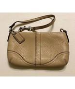 Authentic Purse Coach Mini Handbag Mustard Soft Leather - $47.52