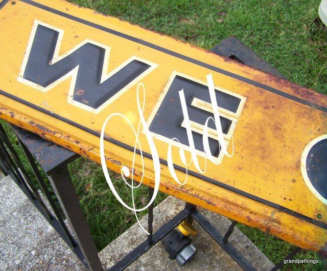 Metal sign 002