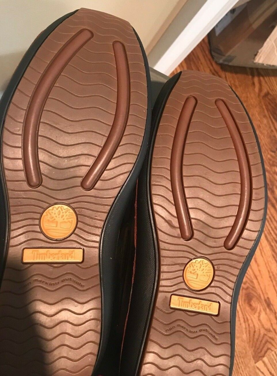TIMBERLAND Annapolis Two Eyed Moc Bur Men's Leather Rootbeer Size 11