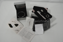 "NIB Set of Pandora Limited Edition CZ Snowflake Bangle 7.5"" and Pandora ... - $119.00"