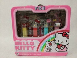 NIB HELLO KITTY COLLECTIBLE PEZ DISPENSERS IN METAL LUNCH BOX 2010 1.74o... - $19.79