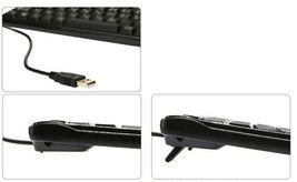 QSENN GP-K7000 USB Wired Mini Compact Keyboard Slim 10keyless Design Keyboard image 6