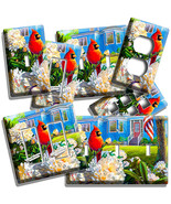 RED CARDINAL BIRD COUNTRY HOUSE FLOWER LIGHT SWITCH OUTLET WALL PLATE RO... - $10.99+