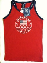 RALPH LAUREN GIRLS NEW RED 100% COTTON 2012 OLYMPIC TANK TOP SIZE XL(16) - $36.47
